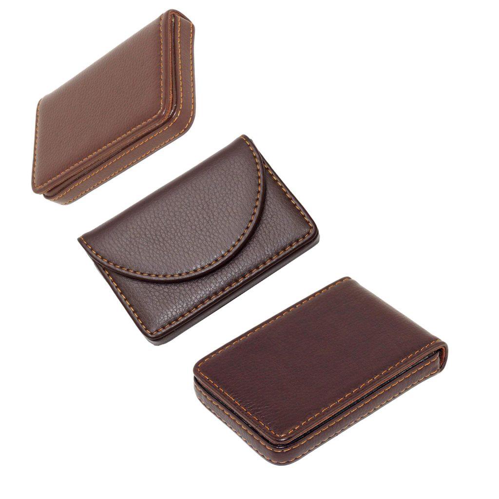 Nisun leather pocket sized creditdebitbusiness card holder wallet nisun leather pocket sized creditdebitbusiness card holder wallet with magnetic shut browncombo of 3 reheart Choice Image