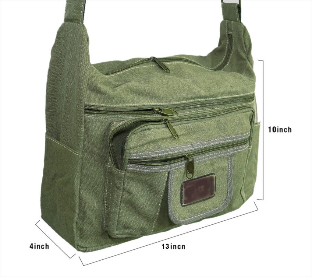 94ec53236180 ... NISUN Stylish cotton sling cross body messenger college one side  shoulder bag for men women ...