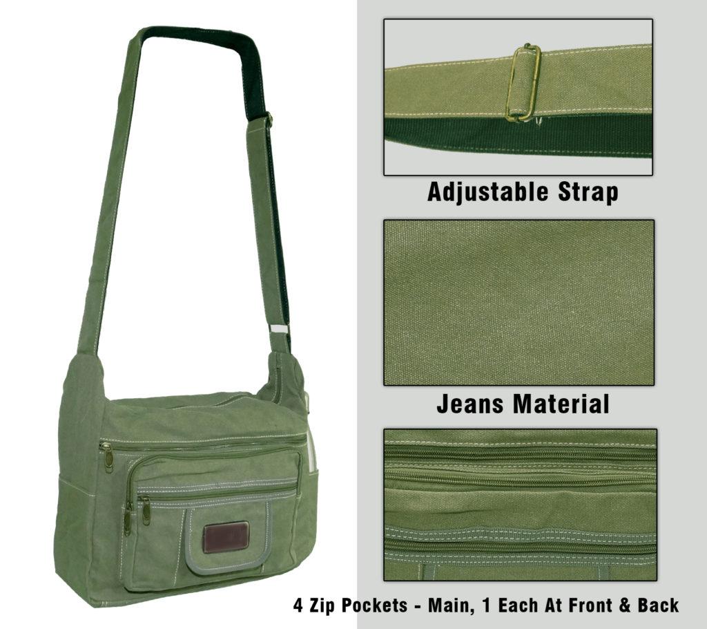NISUN Stylish cotton sling cross body messenger college one side ... 0154160ba8bd9
